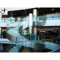 Buy cheap Stainless steel staircase curved staircase glass railing curved stairs product