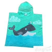 Buy cheap Cute Dolphin Hooded Poncho Beach Towel Reactive Printed For Girls & Boys from wholesalers