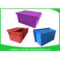 Buy cheap Blue  PP Plastic Attached Lid Containers , plastic storage boxes with lids from wholesalers