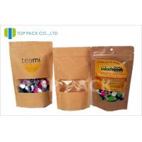 Buy cheap Customized Brown Paper stand up bags and pouches Chia Seeds use , Eco - Friendly from wholesalers