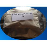 Buy cheap T4 L-Thyroxine Levothyroxine Sodium Powder Hypothyroidism Weight Loss 51-48-9 from wholesalers