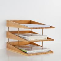 Buy cheap stacking bamboo file tray from wholesalers