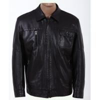 Buy cheap Quality Black Knitting and Viscose, Luxury, Stylish and Designer Leather Jackets for Men from wholesalers
