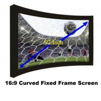 Buy cheap Durable 92Inch Fixed Frame Projection Screen With 80mm Black Velevt Aluminum Cinema Fabric from wholesalers