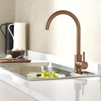 China PVD coating copper color surface Kitchen water faucet for sink stainless steel faucet on sale