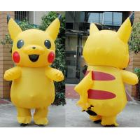 Buy cheap Adult Large Mascot Pikachu Inflatable Cartoon Characters Cosplay Halloween Funny Dress from wholesalers