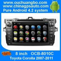 Buy cheap Ouchuangbo Auto GPS Stereo radio Toyota Corolla 2007-2011 Android 4.4 3G Wifi Bluetooth SD from wholesalers