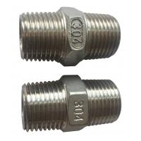 Buy cheap 4 Stainless Steel Pipe Fitting , Hexagon Nippl BSPT  NPT JIS Thread from wholesalers