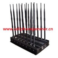 Buy cheap Adjustable 14 Antennas Powerful GSM 3G 4G Phone Blocker & WiFi UHF VHF GPS Lojack All Phone Bands Signal Jammer from wholesalers