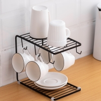 Buy cheap 6 Hooks Carbon Steel Cup Rack Stand , L25cm Mug Racks Stands from wholesalers