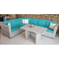 Buy cheap 2017 Rattan Corner Sofa  Set L Shape Cushion Covered In Aluminium Frame Nice Price For Full Container from Wholesalers