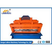 Buy cheap Orange color 2018 new type color steel glazed tile roll forming machine PLC control automatic made in china Blue from wholesalers