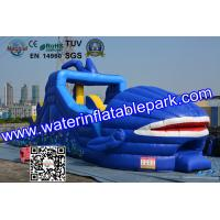 Buy cheap Shark Huge little tikes Inflatable Slide For Water Theme Park from wholesalers