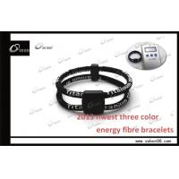 Buy cheap ROHS Black Elastic Fibre Health Care 4 in 1 Power Balance Silicone Bracelet Made in china from wholesalers