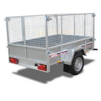 Buy cheap Galvanised 8x4 Car Tandem Box Trailer with Cage from wholesalers