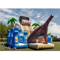 Buy cheap Commercial Blow Up Water Playground , Bouncy Castle Play Place Smooth Surface Friction Resistant from wholesalers