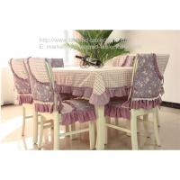 Buy cheap 70 inch oblong polyester tablecloths and quilted chair covers for dining table, from wholesalers