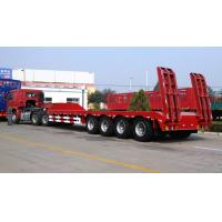 Buy cheap 4 Axles 100 Tons Low Bed Truck Trailer For Crane Transportation Red from wholesalers