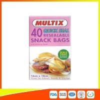 Buy cheap Quick Seal Plastic Ziplock Snack Bags Resealable With Write On Panel from wholesalers