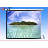 Buy cheap Large Pull Down 180 Inch Projector Screen Ceiling Mount For Video Conference from wholesalers