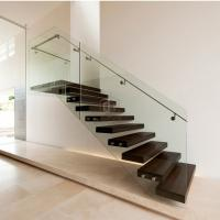 Buy cheap wood stair design/straight small stair staircase stainless steel posts Wooden step Staircase from wholesalers