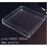 Buy cheap Rectangle Clear Acrylic Tray 3mm acrylic service tray from wholesalers