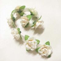 China Customized Fabric Craft Flowers Handmade Rose Belt For Home Decoration Accessories on sale