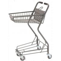 Buy cheap Personal Shopping Carts Plastic Back Panel Swivel Wheels Shop Basket from wholesalers