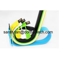 Buy cheap Silicone Bracelet USB2.0 Flash Pen Drive Customized Logo Printing from wholesalers