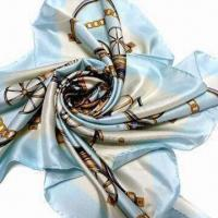 Buy cheap Square Scarf, Made of 100% Pure Silk, Soft Hand Feel from wholesalers