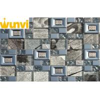 Buy cheap Large Square Glass And Stainless Steel Mosaic Tile For Kitchen Backsplash from wholesalers