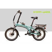 Buy cheap Blue Folding Electric Bike Lightweight 36V 350W 32Km/H Pedals Assisted System from wholesalers
