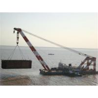 Buy cheap India,Indonesia,Iraq floating crane sell charter supply crane barge 100T TO from wholesalers