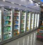 Buy cheap Convenience Store Glass Door Freezer For Fruit 2 - 8 Degree Danfoss Compressor from wholesalers