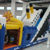 Buy cheap Colorful Tarpaulin  Inflatable Titanic Obstacle Course with Slide For Outdoor from wholesalers