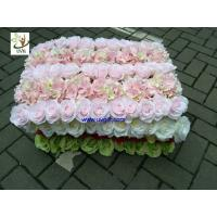 Buy cheap UVG fashionable artificial flower mat carpet in roses and hydrangeas for wedding backdrop wall decoration CHR1136 from wholesalers