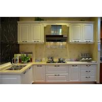 Buy cheap Hettich White Solid Wood Kitchen Cabinets / Blum White Wood Kitchen Cupboards from wholesalers