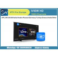 Buy cheap IVIEW HD IPTV with EPL UK Turkey Germany Itali Greece Arabic Netherlands India Ch support Android Enigma 2 device from wholesalers