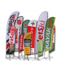 Buy cheap Aluminum Advertising Beach Flag Banner / Custom Made Flags And Banners from wholesalers