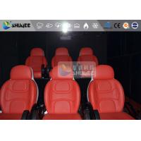 Buy cheap 3 Seat 7D Cinema 7D Movie Theater Red Motion Rides With Pneumatic System product