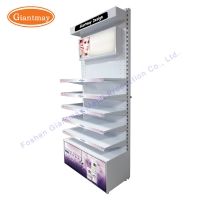 Buy cheap Cosmetics Store Makeup Floor Stand Showy Beauty Display Rack from wholesalers