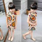 Buy cheap 2016 Fashion Girl Kid's Chinese Style Dress Cheongsam Cute dress from wholesalers
