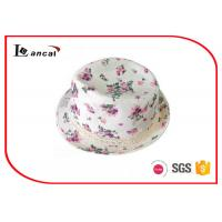 Buy cheap Crochet Ribbon Ladies Trilby Sun Hat , White Trilby Hats For Women from wholesalers