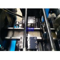 Buy cheap Drawer Slide Purlin Roll Forming Machine PLC Inverter Encoder Touch Screen product