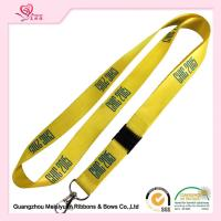 Buy cheap Silk Screen custom printed lanyards With Hook , wired grosgrain ribbon Neck Landyards from wholesalers