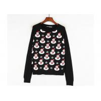 Buy cheap Black Color Xmas Girls Ugly Christmas Sweater Custom Made Santa Claus Pattern from wholesalers
