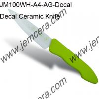 Buy cheap Decal Ceramic Knife and Silica Gel Handle(A04 Series Handle) from wholesalers