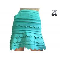 Buy cheap Anti Pilling Ladies Knit Skirts Green Color Office Suit for Spring S XXL Customized from wholesalers