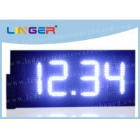 Buy cheap Deep - Set Stand LED Gas Price Sign For Highway Service Station 88.88 Format from wholesalers