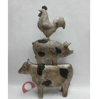 Buy cheap FUNNY~~~ RESIN RURAL STACKING ANIMALS STATUE IN ANTIQUE FINISH -39.5CM from wholesalers